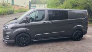 Ford Transit Custom 320 130ps Limited L2 Lwb DCIV Double Cab in Van Crew Q Sport 10 by Quadrant Vehicles