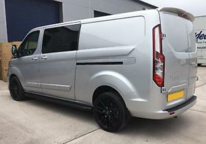 Ford Transit Custom 320 130ps Limited L2 Lwb DCIV Double Cab in Van Crew Q Sport 3 by Quadrant Vehicles