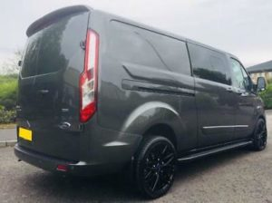 Ford Transit Custom 320 130ps Limited L2 Lwb DCIV Double Cab in Van Crew Q Sport 6 by Quadrant Vehicles