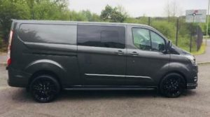 Ford Transit Custom 320 130ps Limited L2 Lwb DCIV Double Cab in Van Crew Q Sport 8 by Quadrant Vehicles