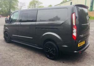 Ford Transit Custom 320 130ps Limited L2 Lwb DCIV Double Cab in Van Crew Q Sport 9 by Quadrant Vehicles