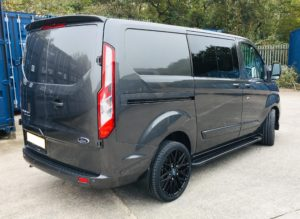 Magnetic Grey Ford Transit Custom 320 L1 SWB DCIV 185ps Auto Q Sport-2-Quadrant Vehicles