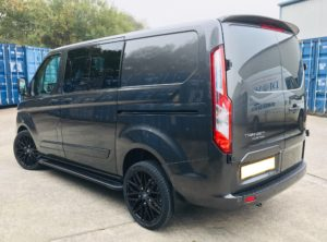 Magnetic Grey Ford Transit Custom 320 L1 SWB DCIV 185ps Auto Q Sport-3-Quadrant Vehicles