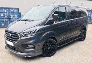 Magnetic Grey Ford Transit Custom 320 L1 SWB DCIV 185ps Auto Q Sport-4-Quadrant Vehicles
