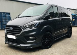 Magnetic Grey Ford Transit Custom 320 L1 SWB DCIV 185ps Auto Q Sport-5-Quadrant Vehicles