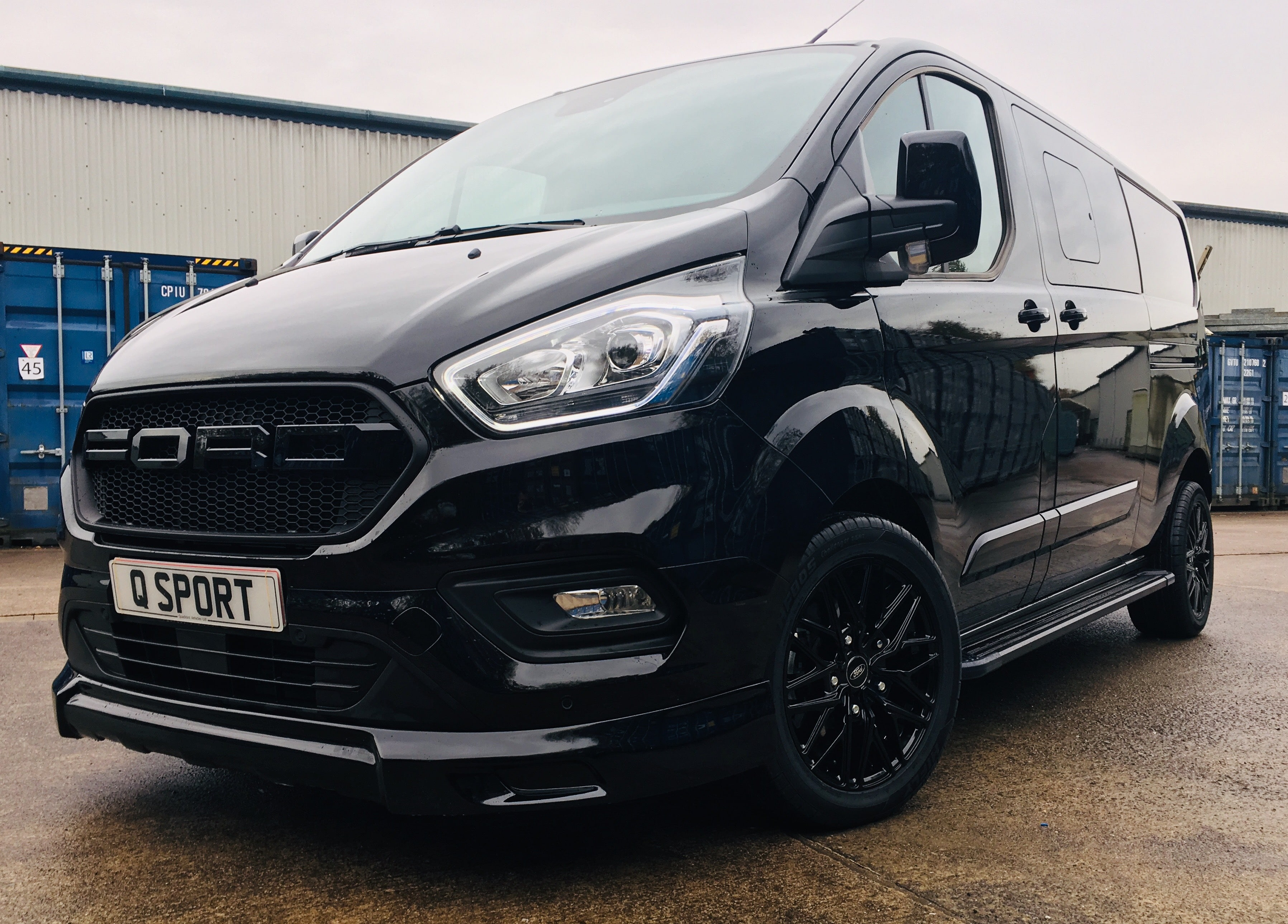 Ford Transit Custom Q Sport with Ford Grille - Up Close - Quadrant Vehicles