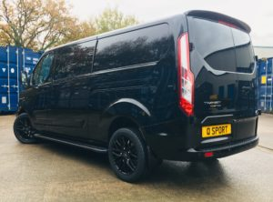Ford Transit Custom Q Sport with Ford Grille - left view - Quadrant Vehicles