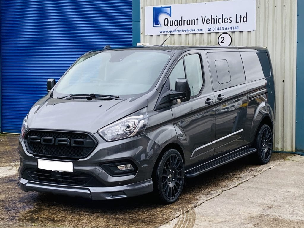 Grey Ford Transit Custom DCIV 185ps Auto Q Sport by Quadrant Vehicles -2
