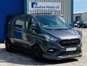 Magnetic Grey Ford Custom Q Sport Lwb Double Cab 185ps Automatic with Ford grille by Quadrant Vehicles