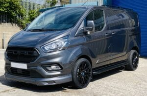 Magnetic Grey Transit Custom Q Sport Lwb Double Cab 185ps Automatic with Ford grille by Quadrant Vehicles