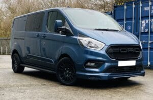 Blue Ford Custom Q Sport DCIV Crew Cab 185ps Auto - Front-Right - by Quadrant Vehicles