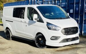 White Ford Custom Q Sport DCIV Crew Cab 130ps - Right-Side-Front - By Quadrant Vehicles